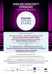BUKOVINA Opera Stars – plakat Wielkie Koncerty Operowe